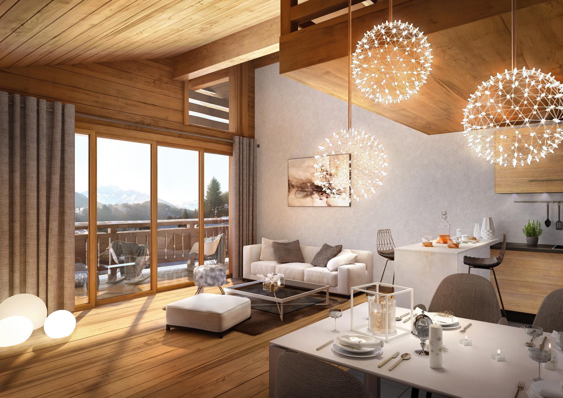 Magnifique Appartement 2 Chambres Avec Mezzanine Situé Au 4e étage